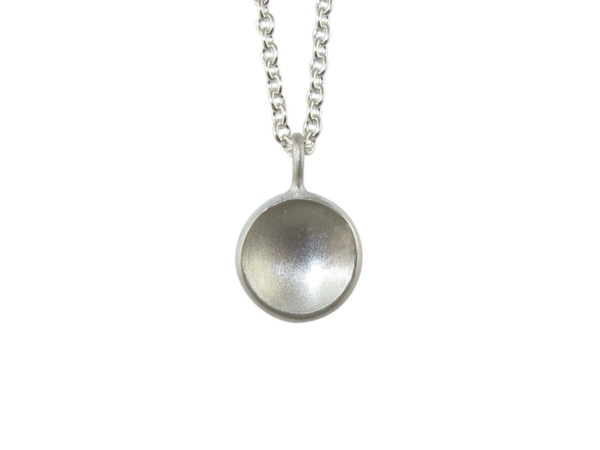 Clare Chandler- Dome necklace in silver