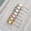 9ct white Gold, 18ct White Gold, Platinum, Palladium, Rose Gold, 9ct Yellow Gold, 18ct yellow gold