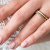 18ct White Gold Eternity Wedding Band With Chocolate Diamonds Clifton Rocks Jewellery