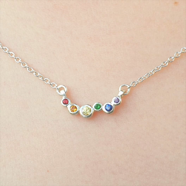Rainbow-Dots-Charity-Necklace-Silver-Clifton-Rocks