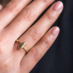 9ct Yellow Gold Marquise Button Ring Clifton Rocks Bristol