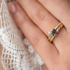 Cluster Pear Sapphire and Diamond Engagement Ring Clifton Rocks Bristol
