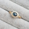 Blue-green-Sapphire-Rose-Cut-Diamond-Modern-Halo-Engagement-Ring-Clifton-Rocks-Jewellery