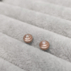 Baby Steps Diamond Studs in rose gold Anny Ching Chin Jewellery - Clifton Rocks Bristol