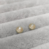 Baby Steps Diamond Studs in yellow gold Anny Ching Chin Jewellery - Clifton Rocks Bristol