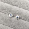 Baby Steps Blue Sapphire Studs in silver-Anny Ching Chin Jewellery - Clifton Rocks Bristol