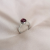 Silver Fine Ring with pink tourmaline-Anny Ching Chin Hsieh-Clifton Rocks Bristol