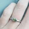 flat court oval green sapphire platinum ring jacks turner clifton rocks bristol 3