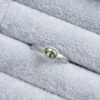 flat court oval green sapphire platinum ring jacks turner clifton rocks bristol