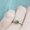 flat court oval green sapphire white gold ring jacks turner clifton rocks bristol 4