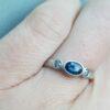 flat court trilogy oval blue sapphire ring jacks turner clifton rocks bristol 4