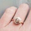 hexagon-diamond-rose-gold-halo-engagement-ring-diamond-Ching-Chin-Jewellery-Clifton-Rocks-Jewellery-Bristol