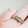 Floral-Diamond-Stacking-Ring-Set-Samantha-England-Clifton-Rocks-Bristol-Worn