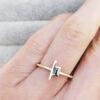 Gold-Brutalist-Baguette-Stacking-Ring-Black-Diamond-Chloe-Solomon-Clifton-Rocks-Bristol-1