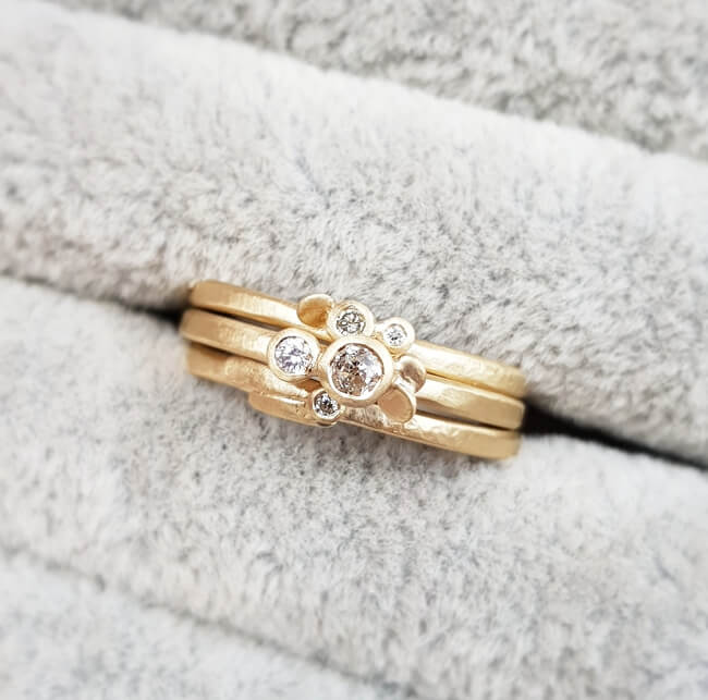 Lacey Cluster Stacking Rings - Jane Kenney