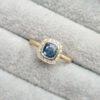 Modern- Cushion-Halo- Sapphire- Diamond